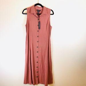 Tahari Button Down Maxi Dress Size 6